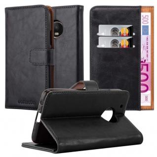 Cadorabo Hülle für Motorola MOTO G5 PLUS in GRAPHIT SCHWARZ ? Handyhülle mit Magnetverschluss, Standfunktion und Kartenfach ? Case Cover Schutzhülle Etui Tasche Book Klapp Style