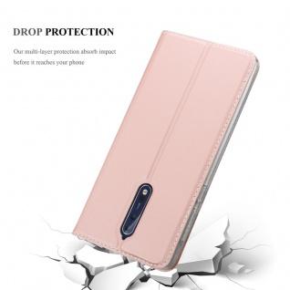 Cadorabo Hülle für Nokia 8 2017 in CLASSY ROSÉ GOLD - Handyhülle mit Magnetverschluss, Standfunktion und Kartenfach - Case Cover Schutzhülle Etui Tasche Book Klapp Style - Vorschau 5