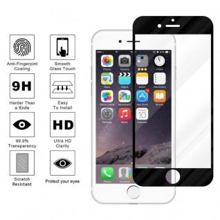 Cadorabo Vollbild Panzer Folie für Apple iPhone 6 / iPhone 6S - Schutzfolie in TRANSPARENT mit SCHWARZ - Gehärtetes (Tempered) Display-Schutzglas in 9H Härte mit 3D Touch Kompatibilität - Vorschau 4