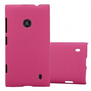 Cadorabo Hülle für Nokia Lumia 520 in FROSTY PINK - Hardcase Handyhülle aus Plastik gegen Kratzer und Stöße - Schutzhülle Bumper Ultra Slim Back Case Hard Cover