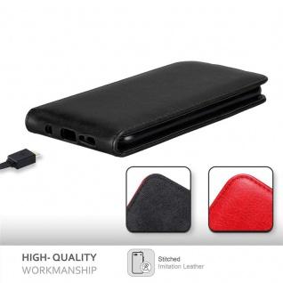 Cadorabo Hülle für Samsung Galaxy S10 in NACHT SCHWARZ - Handyhülle im Flip Design mit Magnetverschluss - Case Cover Schutzhülle Etui Tasche Book Klapp Style - Vorschau 2