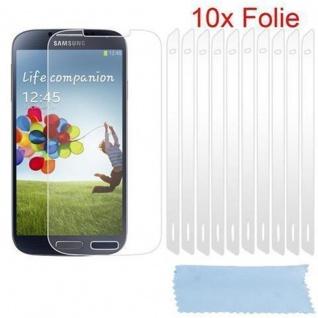 Cadorabo Displayschutzfolien für Samsung Galxy S4 - Schutzfolien in HIGH CLEAR ? 10 Stück hochtransparenter Schutzfolien gegen Staub, Schmutz und Kratzer