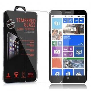 Cadorabo Panzerglas für Nokia Lumia 1320 - Schutzfolie in KRISTALL KLAR ? Gehärtetes (Tempered) Display-Schutzglas in 9H Härte mit 3D Touch Kompatibilität