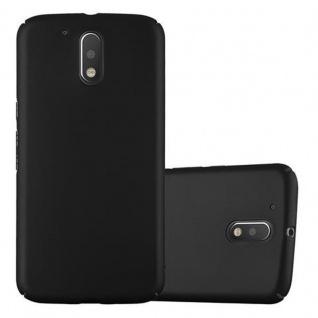 Cadorabo Hülle für Motorola MOTO G4 / MOTO G4 PLUS in METALL SCHWARZ - Hardcase Handyhülle aus Plastik gegen Kratzer und Stöße - Schutzhülle Bumper Ultra Slim Back Case Hard Cover