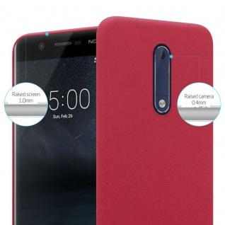 Cadorabo Hülle für Nokia 5 2017 in FROSTY ROT - Hardcase Handyhülle aus Plastik gegen Kratzer und Stöße - Schutzhülle Bumper Ultra Slim Back Case Hard Cover - Vorschau 3