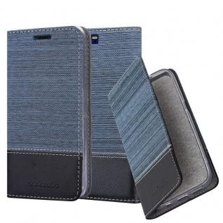 Cadorabo Hülle für Honor 9 in DUNKEL BLAU SCHWARZ - Handyhülle mit Magnetverschluss, Standfunktion und Kartenfach - Case Cover Schutzhülle Etui Tasche Book Klapp Style