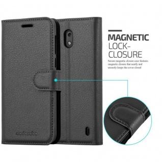 Cadorabo Hülle für Nokia 2 in PHANTOM SCHWARZ - Handyhülle mit Magnetverschluss, Standfunktion und Kartenfach - Case Cover Schutzhülle Etui Tasche Book Klapp Style - Vorschau 2