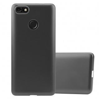 Cadorabo Hülle für Huawei Y6 PRO 2017 in METALLIC GRAU - Handyhülle aus flexiblem TPU Silikon - Silikonhülle Schutzhülle Ultra Slim Soft Back Cover Case Bumper