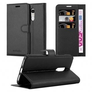 Cadorabo Hülle für Xiaomi RedMi NOTE 4 in PHANTOM SCHWARZ - Handyhülle mit Magnetverschluss, Standfunktion und Kartenfach - Case Cover Schutzhülle Etui Tasche Book Klapp Style