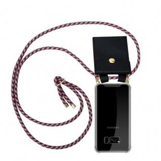 Cadorabo Handy Kette für Samsung Galaxy S8 PLUS in ROT GELB WEISS - Silikon Necklace Umhänge Hülle mit Gold Ringen, Kordel Band Schnur und abnehmbarem Etui ? Schutzhülle