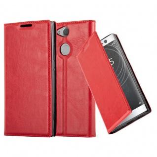 Cadorabo Hülle für Sony Xperia XA2 in APFEL ROT Handyhülle mit Magnetverschluss, Standfunktion und Kartenfach Case Cover Schutzhülle Etui Tasche Book Klapp Style