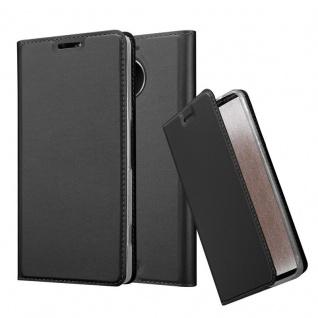 Cadorabo Hülle für Nokia Lumia 950 XL in CLASSY SCHWARZ - Handyhülle mit Magnetverschluss, Standfunktion und Kartenfach - Case Cover Schutzhülle Etui Tasche Book Klapp Style