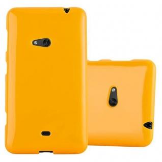 Cadorabo Hülle für Nokia Lumia 625 in JELLY GELB - Handyhülle aus flexiblem TPU Silikon - Silikonhülle Schutzhülle Ultra Slim Soft Back Cover Case Bumper - Vorschau 1