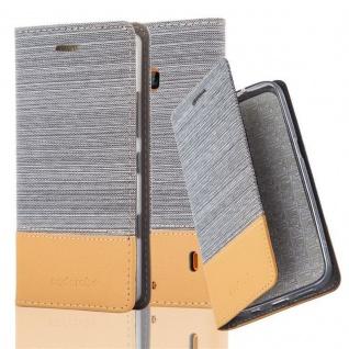Cadorabo Hülle für Nokia Lumia 929 / 930 in HELL GRAU BRAUN Handyhülle mit Magnetverschluss, Standfunktion und Kartenfach Case Cover Schutzhülle Etui Tasche Book Klapp Style