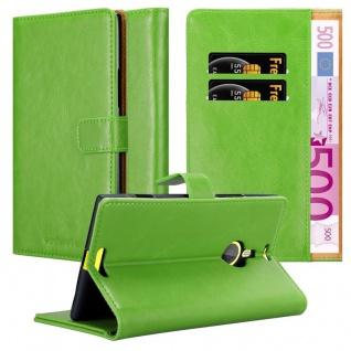 Cadorabo Hülle für Nokia Lumia 1520 in GRAS GRÜN - Handyhülle mit Magnetverschluss, Standfunktion und Kartenfach - Case Cover Schutzhülle Etui Tasche Book Klapp Style