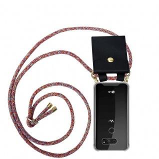 Cadorabo Handy Kette für LG V30 in COLORFUL PARROT - Silikon Necklace Umhänge Hülle mit Gold Ringen, Kordel Band Schnur und abnehmbarem Etui ? Schutzhülle