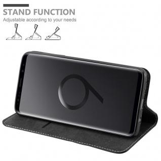 Cadorabo Hülle für Samsung Galaxy S9 PLUS in SCHWARZ BRAUN ? Handyhülle mit Magnetverschluss, Standfunktion und Kartenfach ? Case Cover Schutzhülle Etui Tasche Book Klapp Style - Vorschau 4