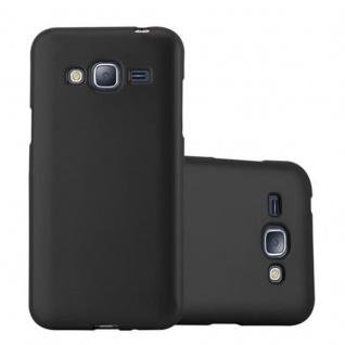 Cadorabo Hülle für Samsung Galaxy J3 / J3 DUOS 2016 in METALLIC SCHWARZ - Handyhülle aus flexiblem TPU Silikon - Silikonhülle Schutzhülle Ultra Slim Soft Back Cover Case Bumper