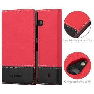 Cadorabo Hülle für Nokia Lumia 640 in ROT SCHWARZ ? Handyhülle mit Magnetverschluss, Standfunktion und Kartenfach ? Case Cover Schutzhülle Etui Tasche Book Klapp Style - Vorschau 2
