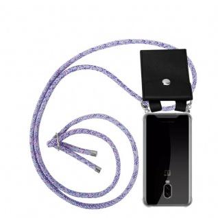 Cadorabo Handy Kette für OnePlus 6T in UNICORN Silikon Necklace Umhänge Hülle mit Silber Ringen, Kordel Band Schnur und abnehmbarem Etui Schutzhülle