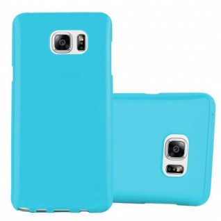 Cadorabo Hülle für Samsung Galaxy NOTE 5 in JELLY HELL BLAU Handyhülle aus flexiblem TPU Silikon Silikonhülle Schutzhülle Ultra Slim Soft Back Cover Case Bumper