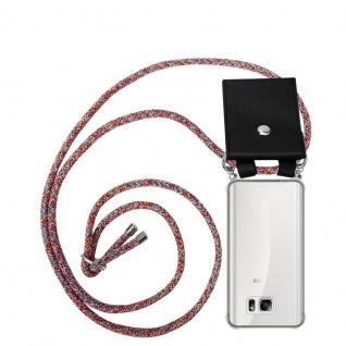 Cadorabo Handy Kette für Samsung Galaxy NOTE 5 in COLORFUL PARROT - Silikon Necklace Umhänge Hülle mit Silber Ringen, Kordel Band Schnur und abnehmbarem Etui - Schutzhülle