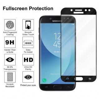 Cadorabo Vollbild Panzer Folie für Samsung Galaxy J7 PRO - Schutzfolie in TRANSPARENT mit SCHWARZ - Gehärtetes (Tempered) Display-Schutzglas in 9H Härte mit 3D Touch Kompatibilität - Vorschau 4