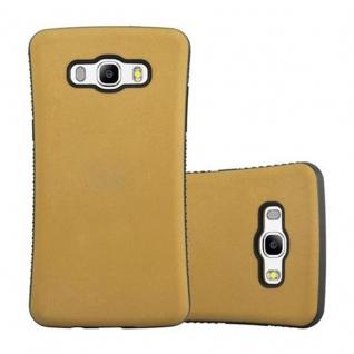 Cadorabo Hülle für Samsung Galaxy J5 2016 (6) - Hülle in GOLD BRAUN - Small Waist Handyhülle mit rutschfestem Gummi-Rücken - Hard Case TPU Silikon Schutzhülle