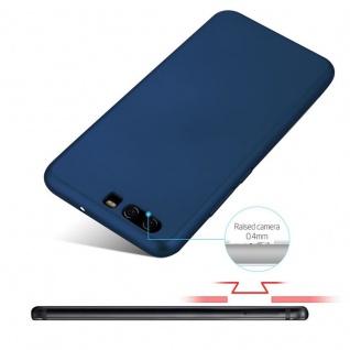 Cadorabo Hülle für Huawei P10 in METALL BLAU - Hardcase Handyhülle aus Plastik gegen Kratzer und Stöße - Schutzhülle Bumper Ultra Slim Back Case Hard Cover - Vorschau 4