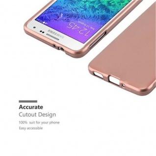 Cadorabo Hülle für Samsung Galaxy ALPHA in METALLIC ROSE GOLD - Handyhülle aus flexiblem TPU Silikon - Silikonhülle Schutzhülle Ultra Slim Soft Back Cover Case Bumper - Vorschau 2