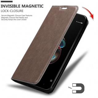 Cadorabo Hülle für Xiaomi RedMi 5A in KAFFEE BRAUN - Handyhülle mit Magnetverschluss, Standfunktion und Kartenfach - Case Cover Schutzhülle Etui Tasche Book Klapp Style - Vorschau 3