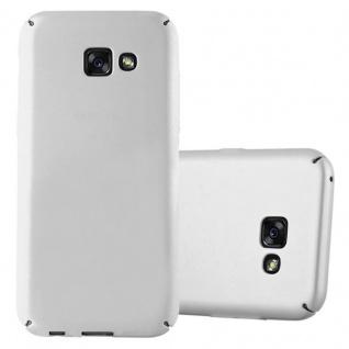 Cadorabo Hülle für Samsung Galaxy A3 2017 in METALL SILBER Hardcase Handyhülle aus Plastik gegen Kratzer und Stöße Schutzhülle Bumper Ultra Slim Back Case Hard Cover