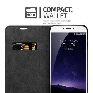 Cadorabo Hülle für MEIZU MX6 in APFEL ROT Handyhülle mit Magnetverschluss, Standfunktion und Kartenfach Case Cover Schutzhülle Etui Tasche Book Klapp Style - Vorschau 4