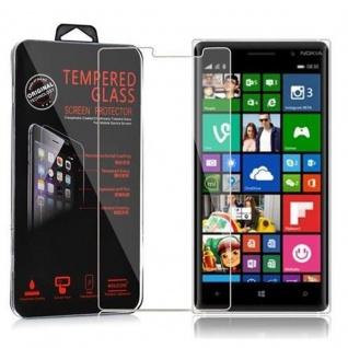 Cadorabo Panzer Folie für Nokia Lumia 830 - Schutzfolie in KRISTALL KLAR - Gehärtetes (Tempered) Display-Schutzglas in 9H Härte mit 3D Touch Kompatibilität