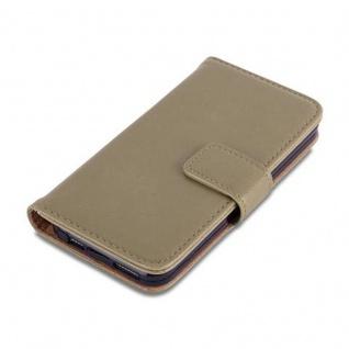 Cadorabo Hülle für Apple iPhone 5 / iPhone 5S / iPhone SE in CAPPUCCINO BRAUN ? Handyhülle mit Magnetverschluss, Standfunktion und Kartenfach ? Case Cover Schutzhülle Etui Tasche Book Klapp Style - Vorschau 4