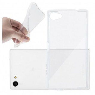 Cadorabo Hülle für Sony Xperia Z5 PREMIUM - Hülle in VOLL TRANSPARENT ? Handyhülle aus TPU Silikon im Ultra Slim 'AIR' Design - Ultra Slim Soft Backcover Case Bumper