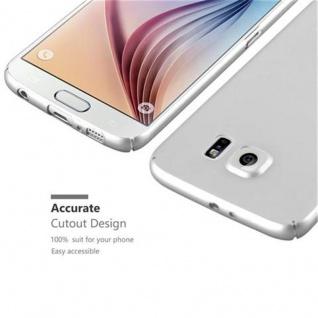 Cadorabo Hülle für Samsung Galaxy S6 in METALL SILBER - Hardcase Handyhülle aus Plastik gegen Kratzer und Stöße - Schutzhülle Bumper Ultra Slim Back Case Hard Cover - Vorschau 3