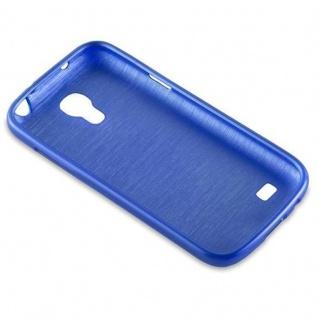 Cadorabo Hülle für Samsung Galaxy S4 MINI in BLAU - Handyhülle aus flexiblem TPU Silikon - Silikonhülle Schutzhülle Ultra Slim Soft Back Cover Case Bumper - Vorschau 3