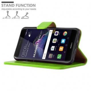Cadorabo Hülle für Huawei P8 LITE 2017 in GRAS GRÜN ? Handyhülle mit Magnetverschluss, Standfunktion und Kartenfach ? Case Cover Schutzhülle Etui Tasche Book Klapp Style - Vorschau 5