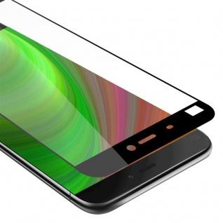 Cadorabo Vollbild Panzer Folie für Xiaomi Mi 5 - Schutzfolie in TRANSPARENT mit SCHWARZ - Gehärtetes (Tempered) Display-Schutzglas in 9H Härte mit 3D Touch Kompatibilität