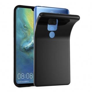 Cadorabo Hülle für Huawei MATE 20 X in SCHWARZ - Handyhülle aus flexiblem TPU Silikon - Silikonhülle Schutzhülle Ultra Slim Soft Back Cover Case Bumper