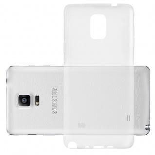 Cadorabo Hülle für Samsung Galaxy NOTE EDGE in VOLL TRANSPARENT - Handyhülle aus flexiblem TPU Silikon - Silikonhülle Schutzhülle Ultra Slim Soft Back Cover Case Bumper
