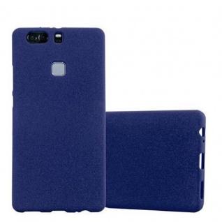 Cadorabo Hülle für Huawei P9 PLUS in FROST DUNKEL BLAU - Handyhülle aus flexiblem TPU Silikon - Silikonhülle Schutzhülle Ultra Slim Soft Back Cover Case Bumper