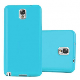 Cadorabo Hülle für Samsung Galaxy NOTE 3 in JELLY HELL BLAU - Handyhülle aus flexiblem TPU Silikon - Silikonhülle Schutzhülle Ultra Slim Soft Back Cover Case Bumper