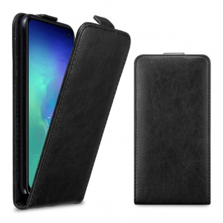 Cadorabo Hülle für Samsung Galaxy S10e in NACHT SCHWARZ - Handyhülle im Flip Design mit Magnetverschluss - Case Cover Schutzhülle Etui Tasche Book Klapp Style - Vorschau 5