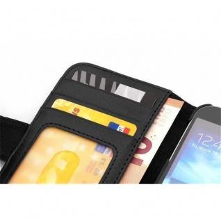 Cadorabo Hülle für Samsung Galaxy A5 2015 in OXID SCHWARZ - Handyhülle mit Magnetverschluss und 3 Kartenfächern - Case Cover Schutzhülle Etui Tasche Book Klapp Style - Vorschau 3