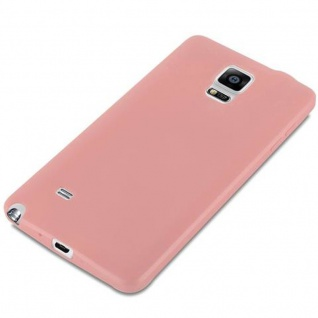 Cadorabo Hülle für Samsung Galaxy NOTE 4 in CANDY ROSA - Handyhülle aus flexiblem TPU Silikon - Silikonhülle Schutzhülle Ultra Slim Soft Back Cover Case Bumper - Vorschau 4