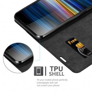 Cadorabo Hülle für Sony Xperia 10 in NACHT SCHWARZ - Handyhülle mit Magnetverschluss, Standfunktion und Kartenfach - Case Cover Schutzhülle Etui Tasche Book Klapp Style - Vorschau 2