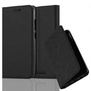 Cadorabo Hülle für WIKO JERRY in NACHT SCHWARZ - Handyhülle mit Magnetverschluss, Standfunktion und Kartenfach - Case Cover Schutzhülle Etui Tasche Book Klapp Style