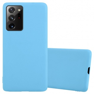 Cadorabo Hülle für Samsung Galaxy NOTE 20 PLUS in CANDY BLAU Handyhülle aus flexiblem TPU Silikon Silikonhülle Schutzhülle Ultra Slim Soft Back Cover Case Bumper